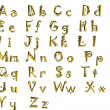 Golden alphabet — Stock Photo #6830350