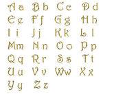 Golden alphabet — Stock Photo