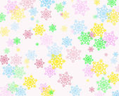 Colorful snowflakes background — Stock Photo