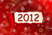 2012 torn бумаги елочка — Стоковое фото