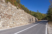 Mountain road curve — Stock Photo