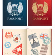 Designs for a general not country specific passport — Stock Vector
