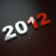 Stock Photo: 3d new year 2012