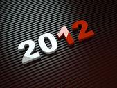 3d nový rok 2012 — Stock fotografie