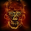 Fire skull - Stock Photo