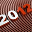 3d new year 2012 - Stock Photo