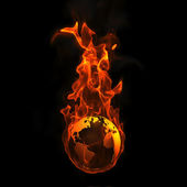 Earth on fire — Stock Photo