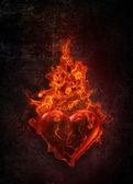 Ardent heart — Stock Photo