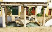Marble fontaine at Castelo de Vide village, Portugal. — Stock Photo