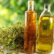 Royalty-Free Stock Photo: Olive oil,vinegar, and oregano herb.