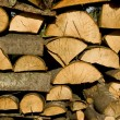 Firewood logs background — Stock Photo