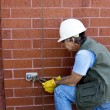 Repairing water valve — Stock Photo