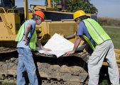 Werknemers in de bouw — Stockfoto