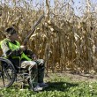 Stock Photo: Hunting from a wheelchair