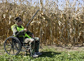 Hunting from a wheelchair — Stock Photo
