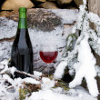 Chilled red wine — Stock Photo