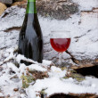 Stock Photo: Chilled wine in vertical format