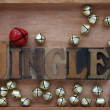 Stock Photo: Bells with word jingle