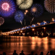 Spectacular Fireworks festival at Han River - Stock Photo
