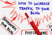 How to increase traffic to your website — Stock Photo