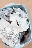 Resume crumpled up and tossed in frustration — Stock Photo