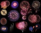 Fireworks montage — Stock Photo