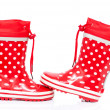 Red rubber boots — Stock Photo #7386662