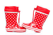 Red rubber boots — Stock Photo