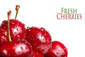 Fresh cherry berries with drops — Stock Photo