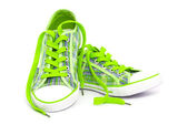 Green sneakers — Stock Photo
