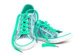 Zapatillas cian — Foto de Stock