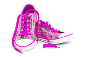 Pink sneakers — Stock Photo