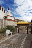 Gate way of Thiksey Gompa — Stock Photo