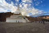 Shanti Stupa, Leh, Ladakh, India — Stock Photo