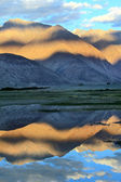 Mountains and reflection in water.Sunset. Himalayas — Stock Photo