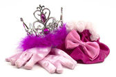 Pink princess accessories — Stock Photo