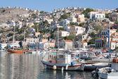 搜索,西米,希腊的海港. — 图库照片
