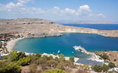 Lindos Bay, Rhodes, Greece — Stock Photo