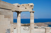 Temple of Athena Lindia at Lindos, Rhodes, Greece — Stock Photo