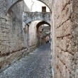 Medieval alley in Rhodes Old Town — Stock Photo #7304939