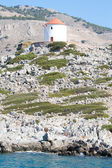 Windmill on Symi, a Greek Dodecanese Island — Stock Photo