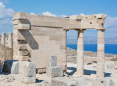 Ruins of the Temple of Athena Lindia in Lindos, Rhodes, Greece — Stock Photo