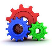 RGB gears — Stock Photo