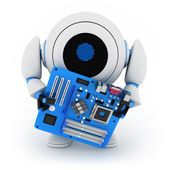 Robot and motherboard — Stock Photo