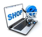 Abstract e-shop — Stock Photo