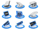 Parts computer icon — Stock Photo