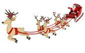 Fly santa and deep — Stock Photo