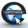 Stock Photo: Symbol e-commerce