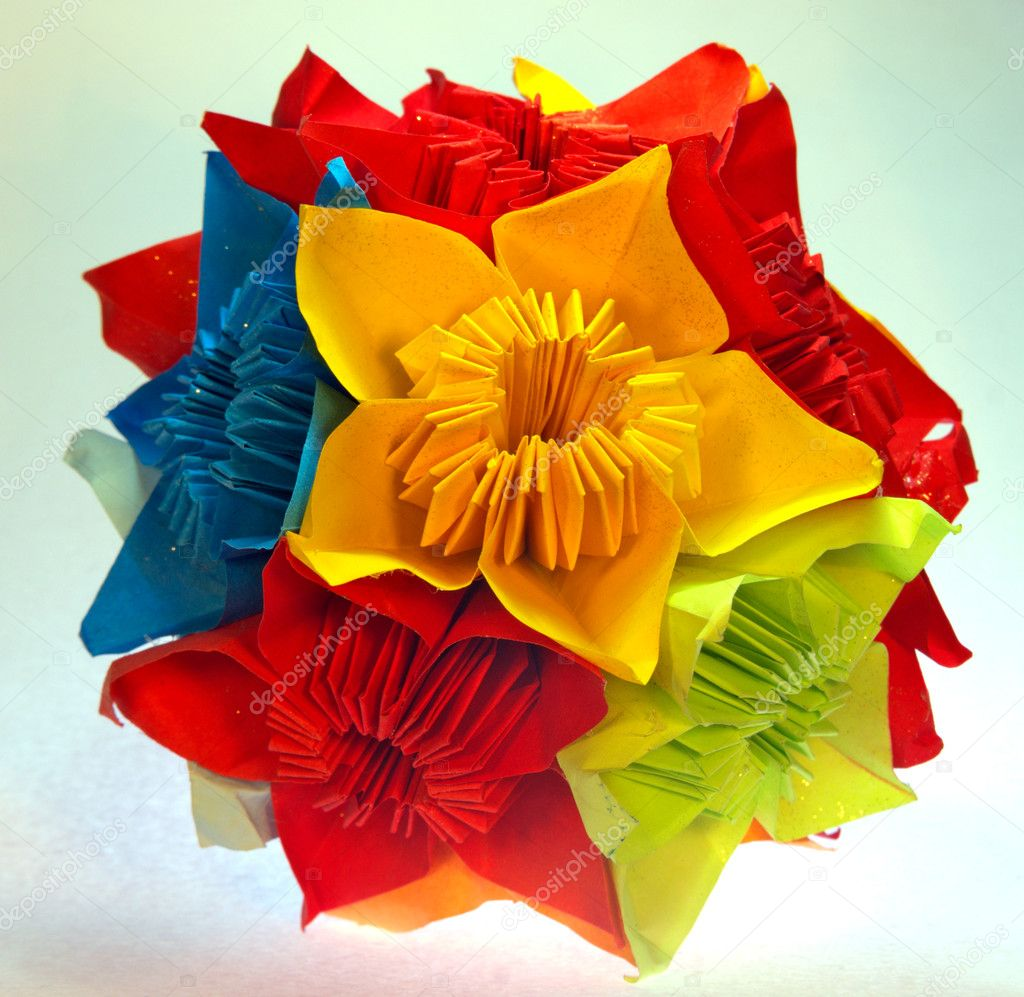Kusudama origami — Stock Photo #6879895