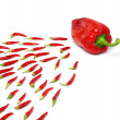 Paprika fertilization — Stock Photo
